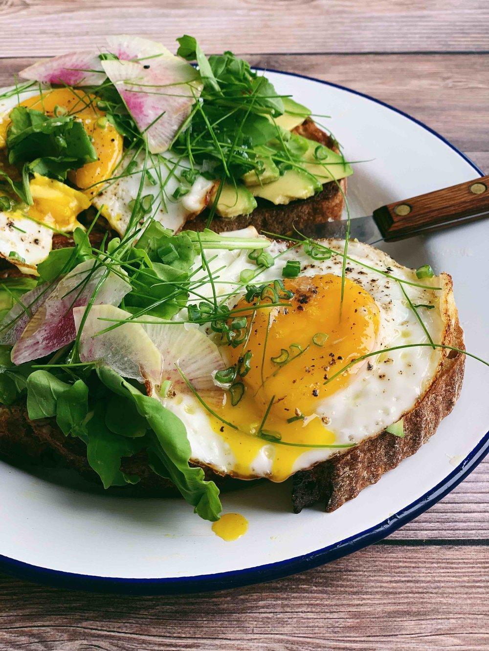 not basic avo-egg toast