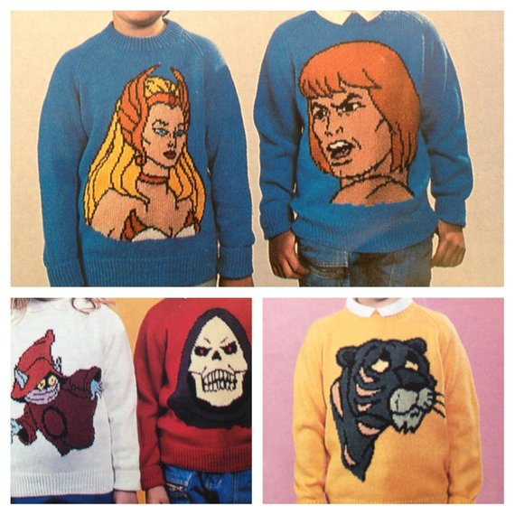He-Man Retro Knitting Pattern