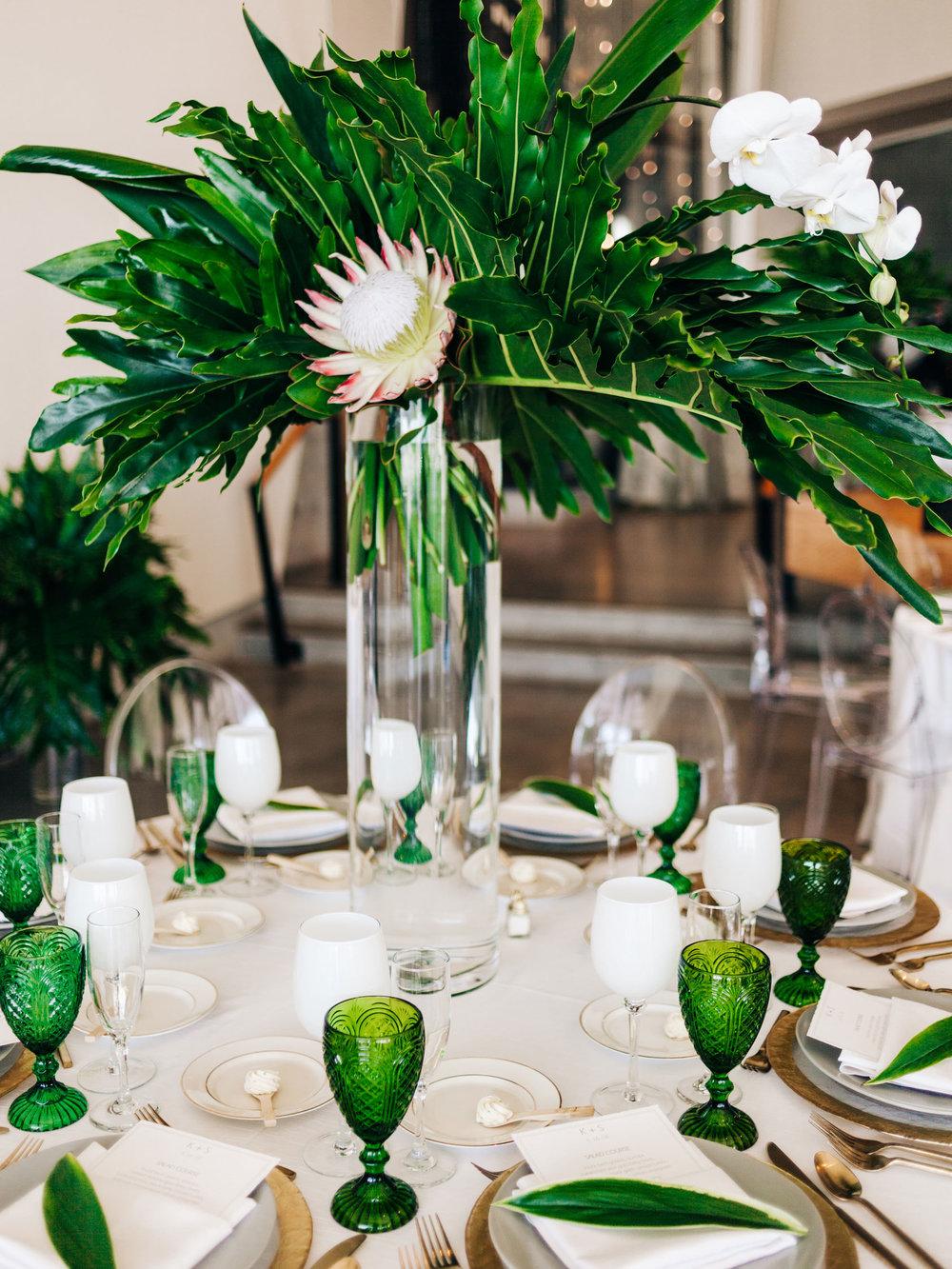 Tropical, emerald green florist utah