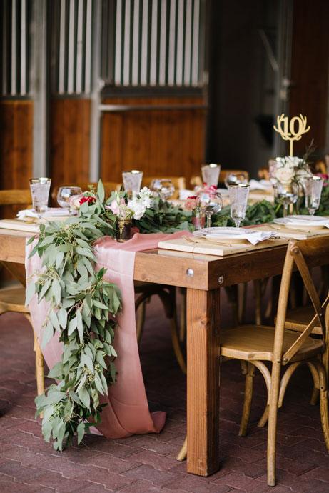 Rustic Table Runner Green Florals Utah