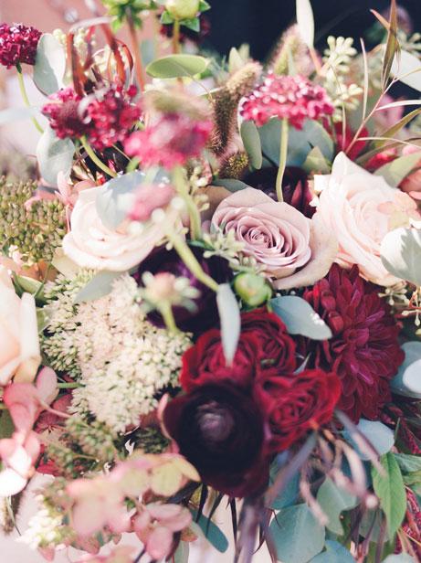 Light Pink and Maroon Wedding Bouquet Flower Design