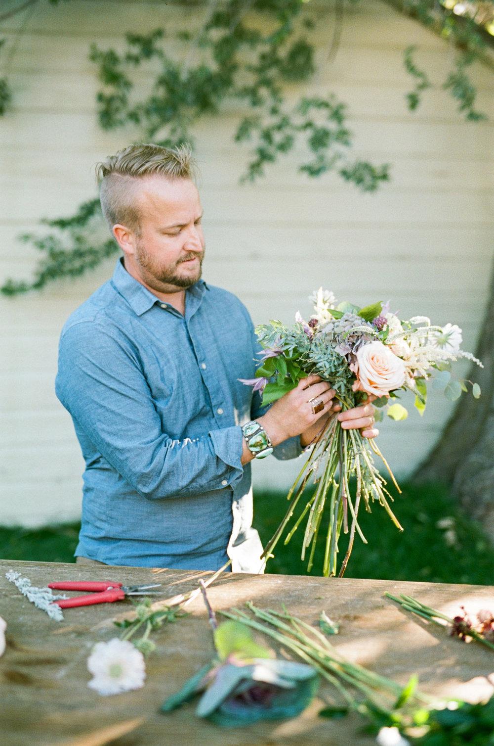 Wedding Florist Joshua Knight creates gorgeous custom wedding bouquets in Salt Lake City, Utah