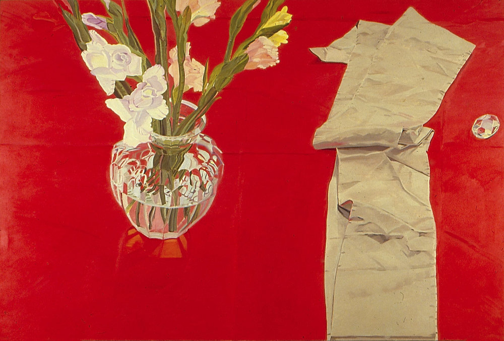 """Big Red  oil on canvas 60 x 90"""" 1978"""