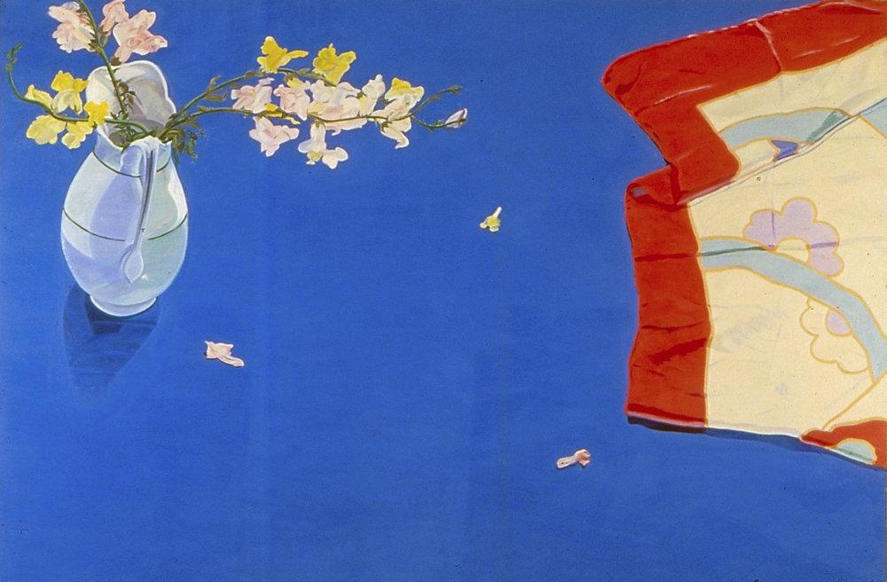 "Big Blue  oil on canvas 60 x 90"" 1978"
