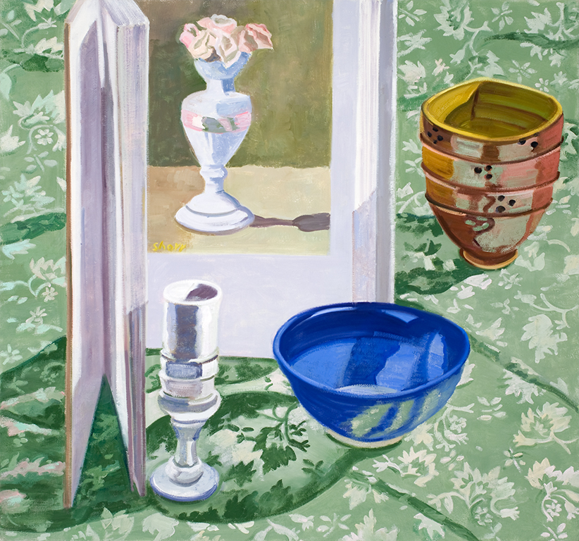 "After Morandi  oil on canvas 30 x 32""  2009"