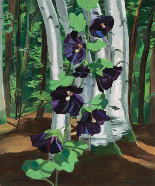 "Black Hollyhocks  oil on canvas 60 x 50"" 2001"