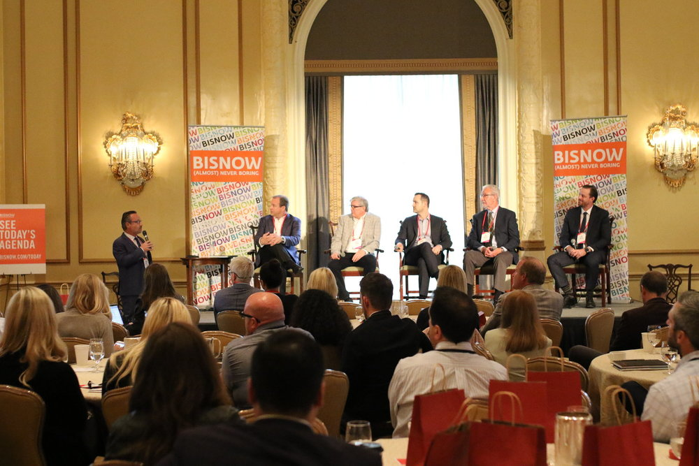 "PICTURED ABOVE: ""The Condo Comeback"" panel discuss the heightened demand for sustainable, luxurious and affordable condominiums in the Seattle metro area at the 2018 BISNOW Multifamily Annual Conference Pacific Northwest."