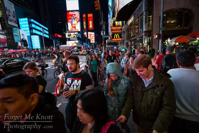 Pedestrians, New York City manhatten times square people walking crowd