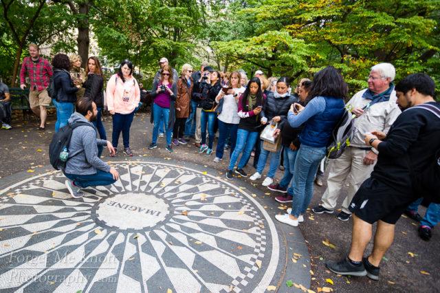 Imagine All The People, New York city manhatten central park strawberry fields john lennon memorial