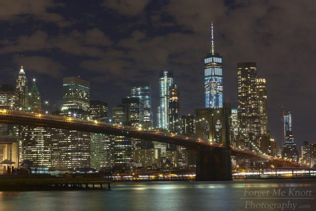 Brooklyn Bridge By Night, New York city manhatten east river