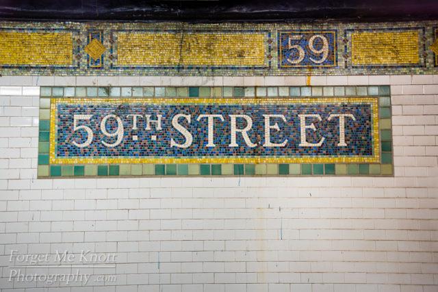 59th Street, New York city manhattan subway station