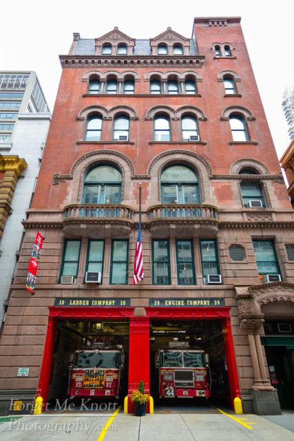 FDNY fire Station, New York manhatten ladder engine company 16 44 39 firehouse
