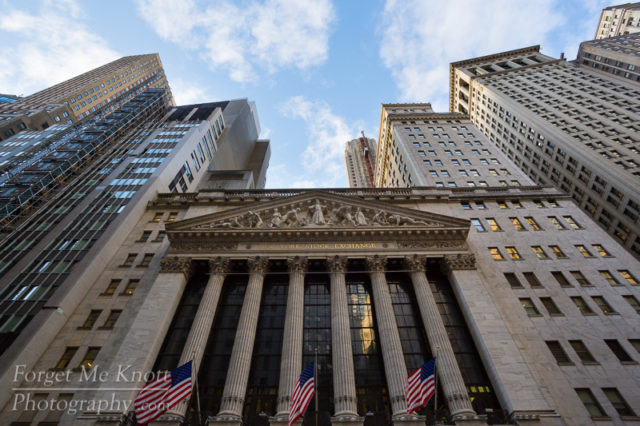 New York Stock Exchange city building pillars urban