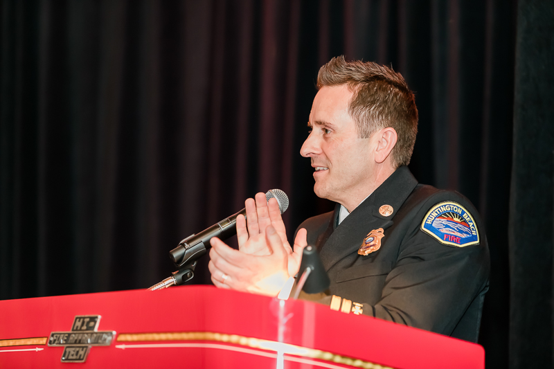 Battalion Chief Lopez was the MC for the evening.