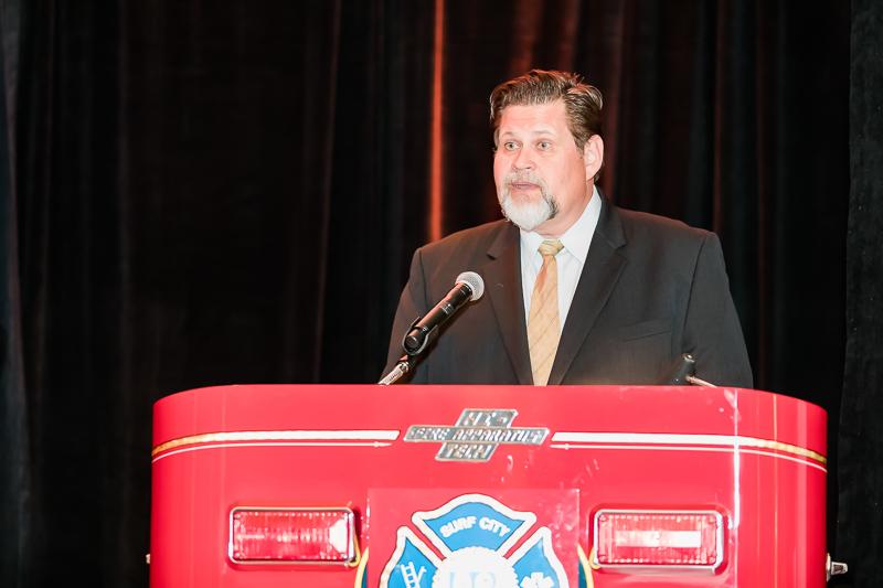 Huntington Beach Mayor Erik Peterson with opening remarks