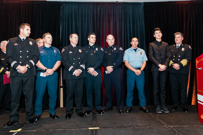 Several life saving awards were handed out including to this entire response team. The surviving victim is second from the right.
