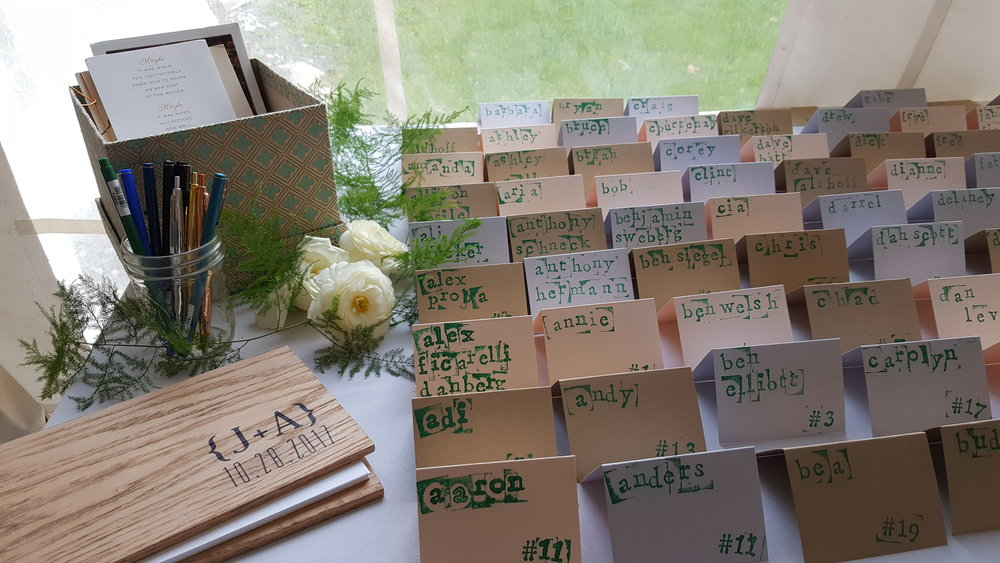 botanical bee escort card display.jpg