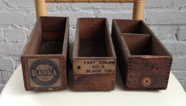 vintage shoe polish and shoe maker boxes.jpg