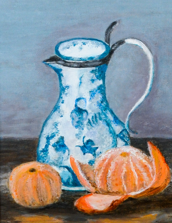 Pitcher with Orange