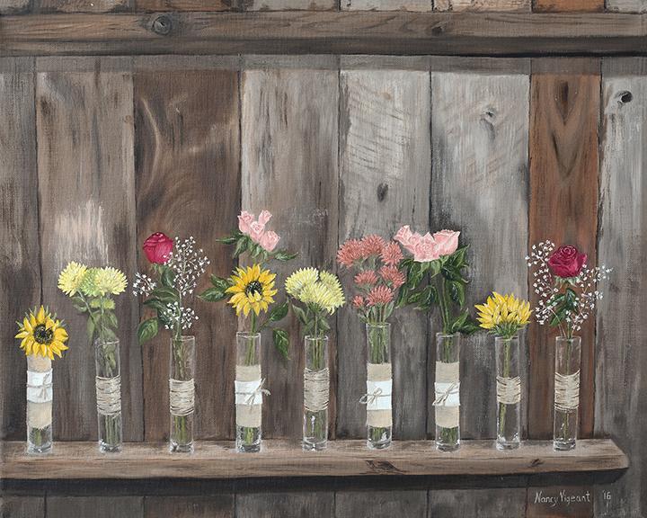 Barnboard & Flowers