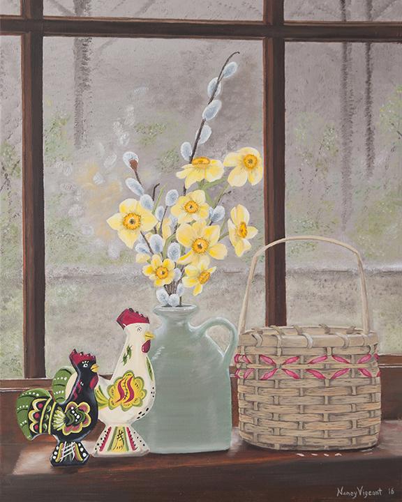Dala Roosters & Daffodils