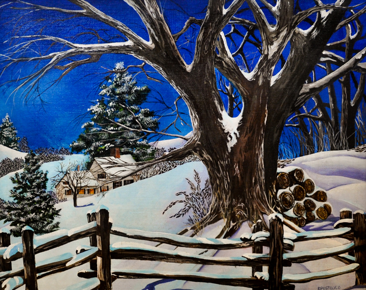 """Blanket""  Acrylic painting by Deborah Apostolico"