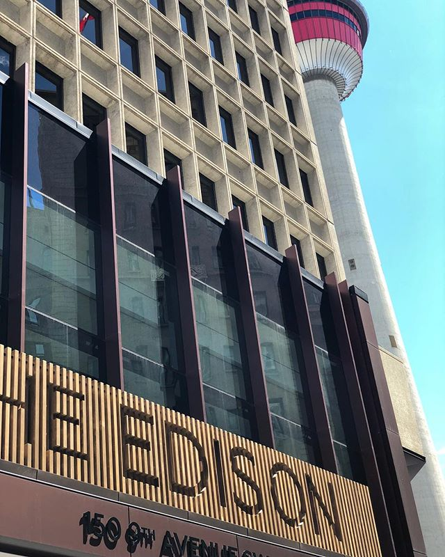 Fresh new digs @the.edison.yyc !! #newoffice #downtown #onthegrow #yyc