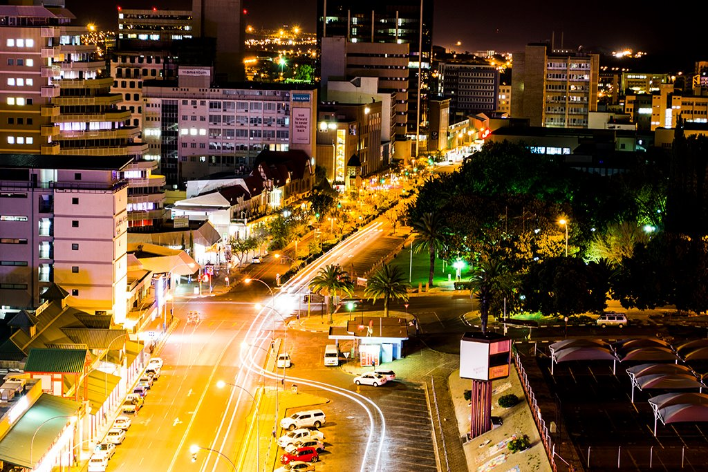 This is where I will be living. Windhoek at night.