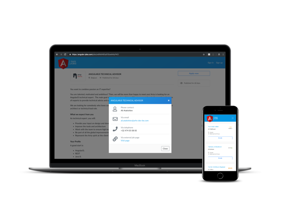 CONNECT - Connect Angular developers with businesses that are looking for Angular professionals.