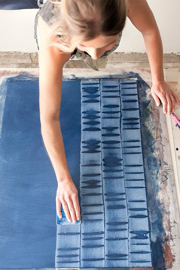 Creating patterns to make handpainted wallpaper