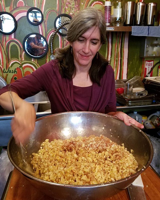 Fresh batch organic garlic salt.  #organicgarlicsalt