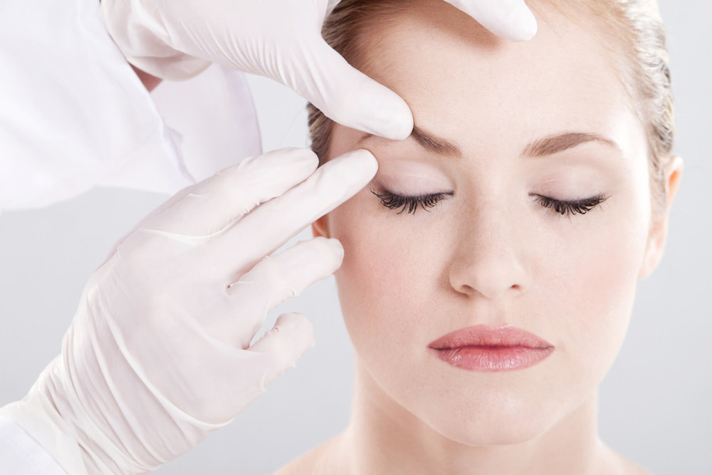 Eyebrow improvement plastic surgery