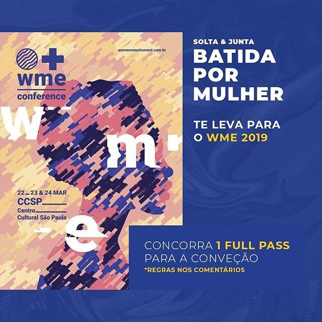 DJ'S E PRODUTORAS(ES), se liguem nesse SORTEIO 🤩: Nós da BATIDA POR MULHER (Solta + Junta ) temos a honra de poder sortear 1 FULL PASS para o Women Music Event, a convenção nacional para profissionais mulheres do mercado da música brasileira, a qual acontece nos próximos dias 22, 23 e 24 de março aqui em São Paulo;  Para participar é simples: — Curta essa foto — Siga as páginas @coletivosolta @juntapro @womenmusicevent — Marque um(a) amiga(a) para ir com você para essa jornada super valida de conteúdo e aprendizado ✅Pronto. Agora é só torcer e se preparar para ir para esse evento incrível!  O sorteio sai na próxima terça-feira, dia 19/03. 📆 Participe QUANTAS VEZES QUISER. Boa sorte 🙌  Saiba mais sobre a convenção pelo: www.womenmusicevent.com.br  #women #music #djs #produtoras #brasil #soltaejunta #solta #wme #bpm #batidapormulher