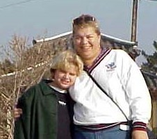 One of the only photos of my mother and I that I have access to digitally - pixelated and digitally distorted with time.