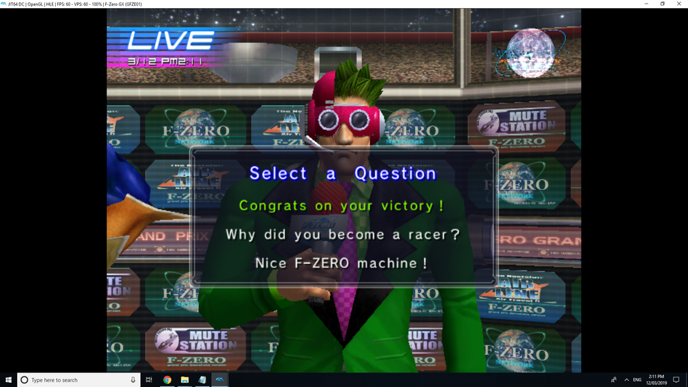 1. I don't think the game knows what a question is. 2. Why am I even choosing the question? I'm the racer!