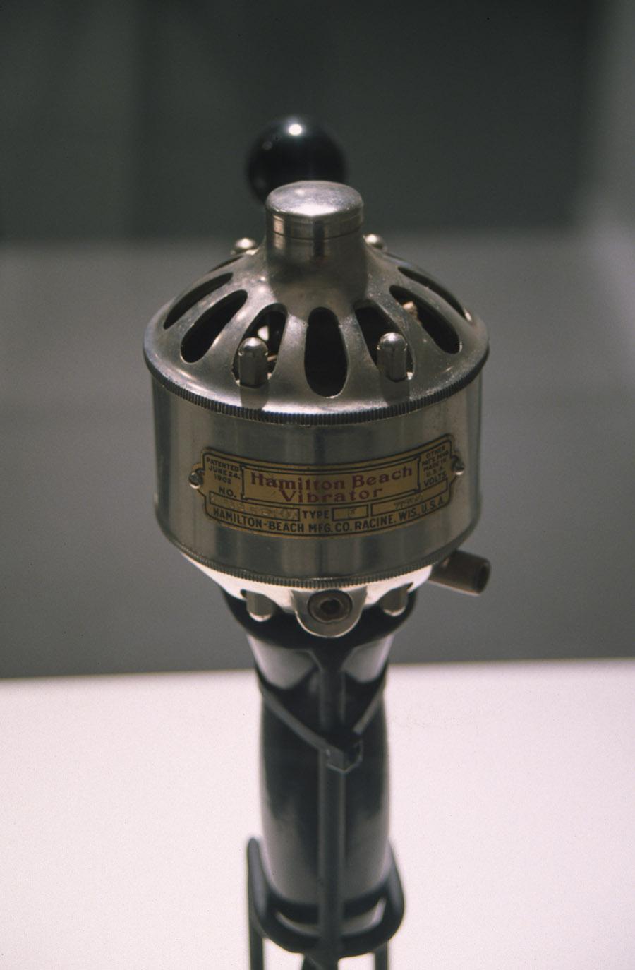 Detail, Hamilton Beach antique vibrator, 1903