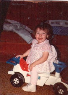 That's me with my race car. Notice how it isn't pink?