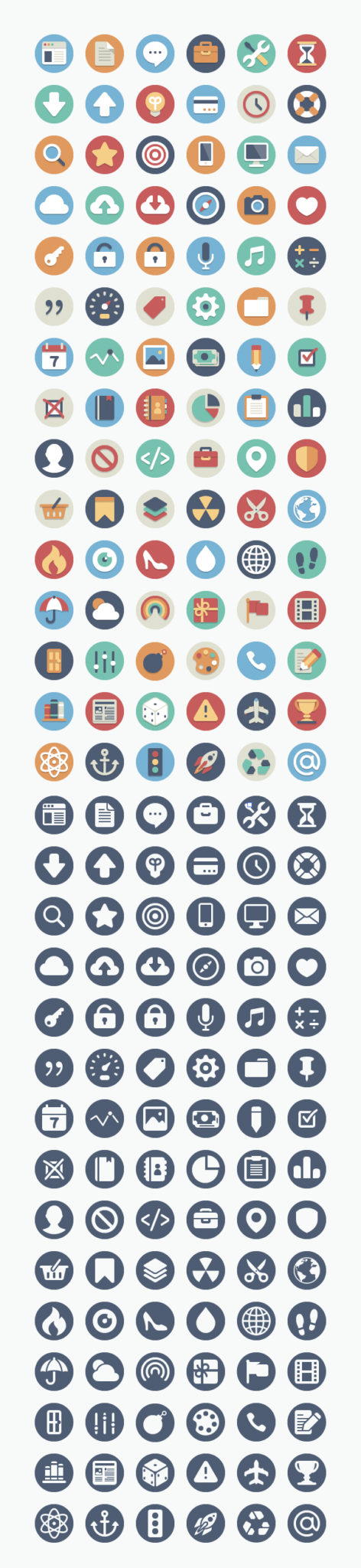 Free flat icons for your website or blog.