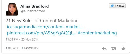 One of my marketing tweets.