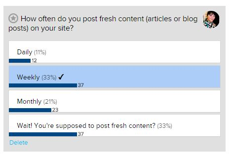 fresh content poll