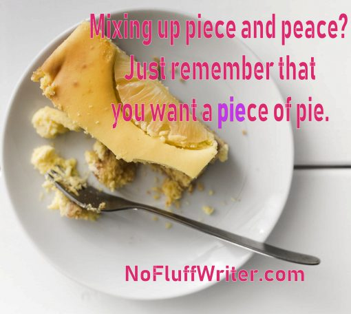 how to remember how to spell piece