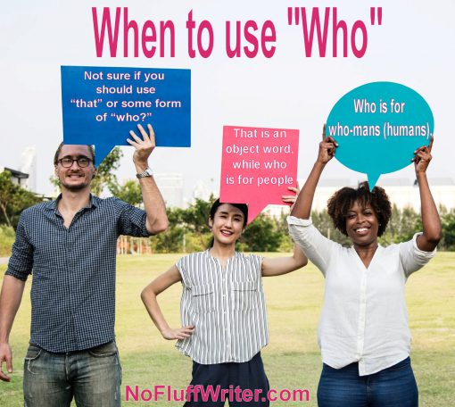 when to use who