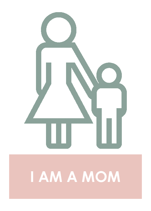 i AM A MOM WITH BUTTON