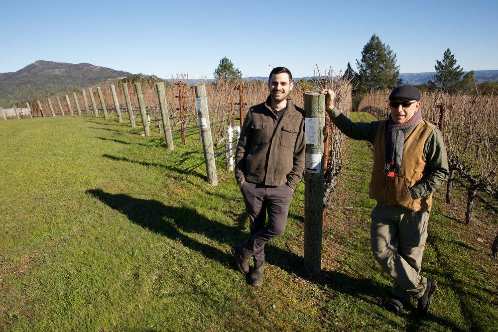 Sam & Dan at Beller Vineyard