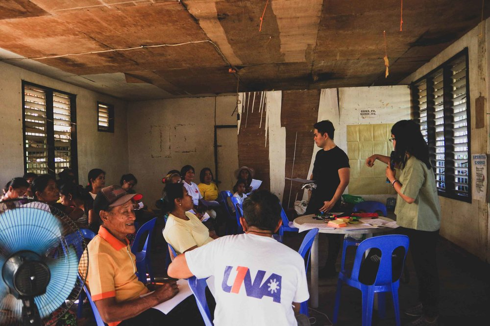 Impact Hub's awareness event at Brgy. Diarabasin in Dipaculao, Aurora, with members of the Egongot tribe.