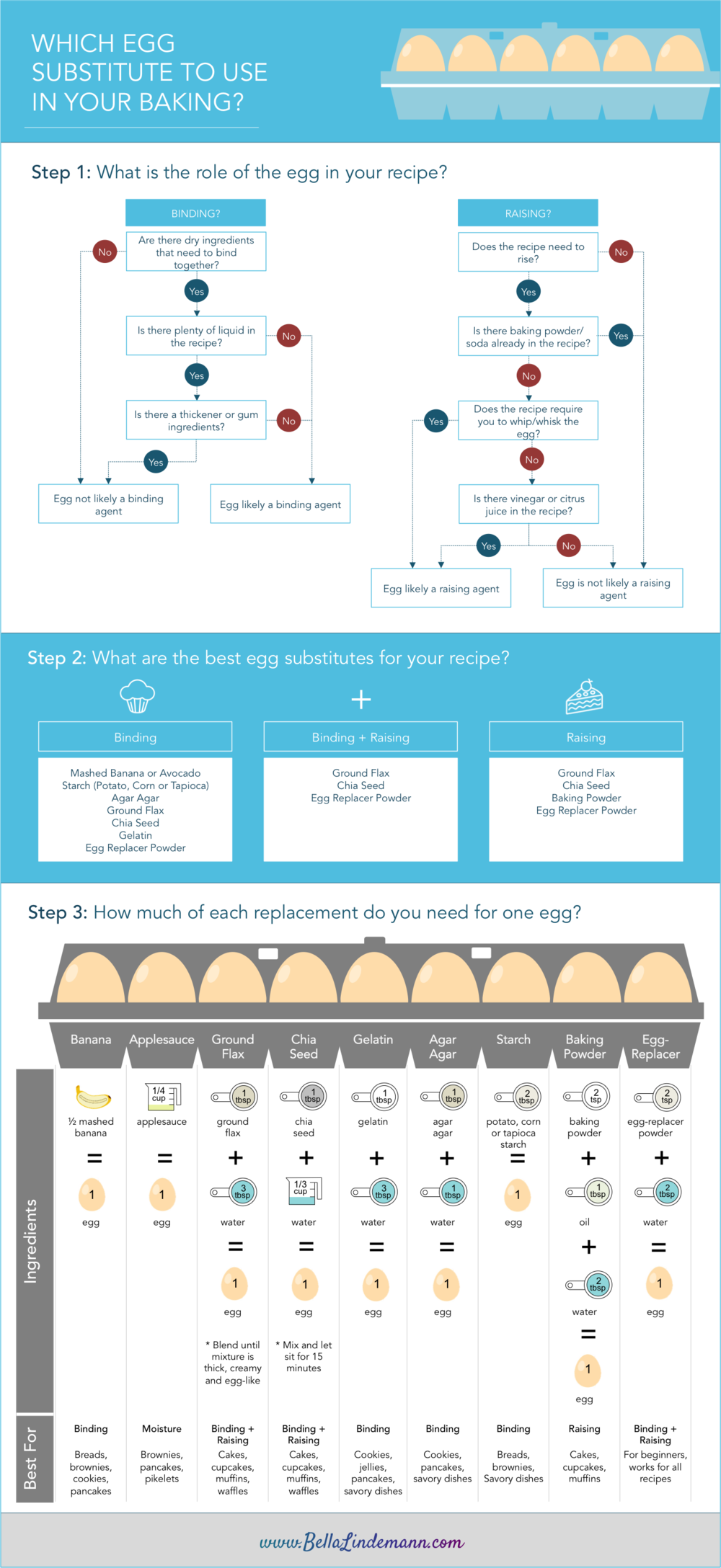 Egg Substitutions Infographic