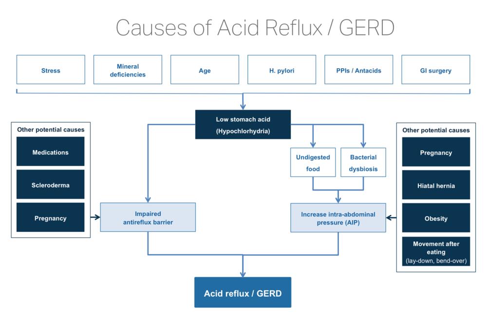 Cause of Acid Reflux Natural Treatment GERD