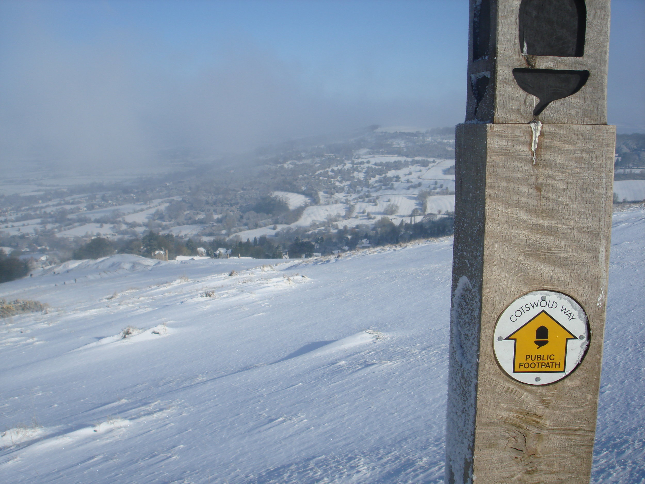 Cleeve Hill in Winter - Cotswold Guide