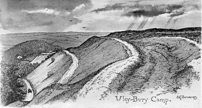 Print Of Uley Bury Camp By EJ Burrow 1913