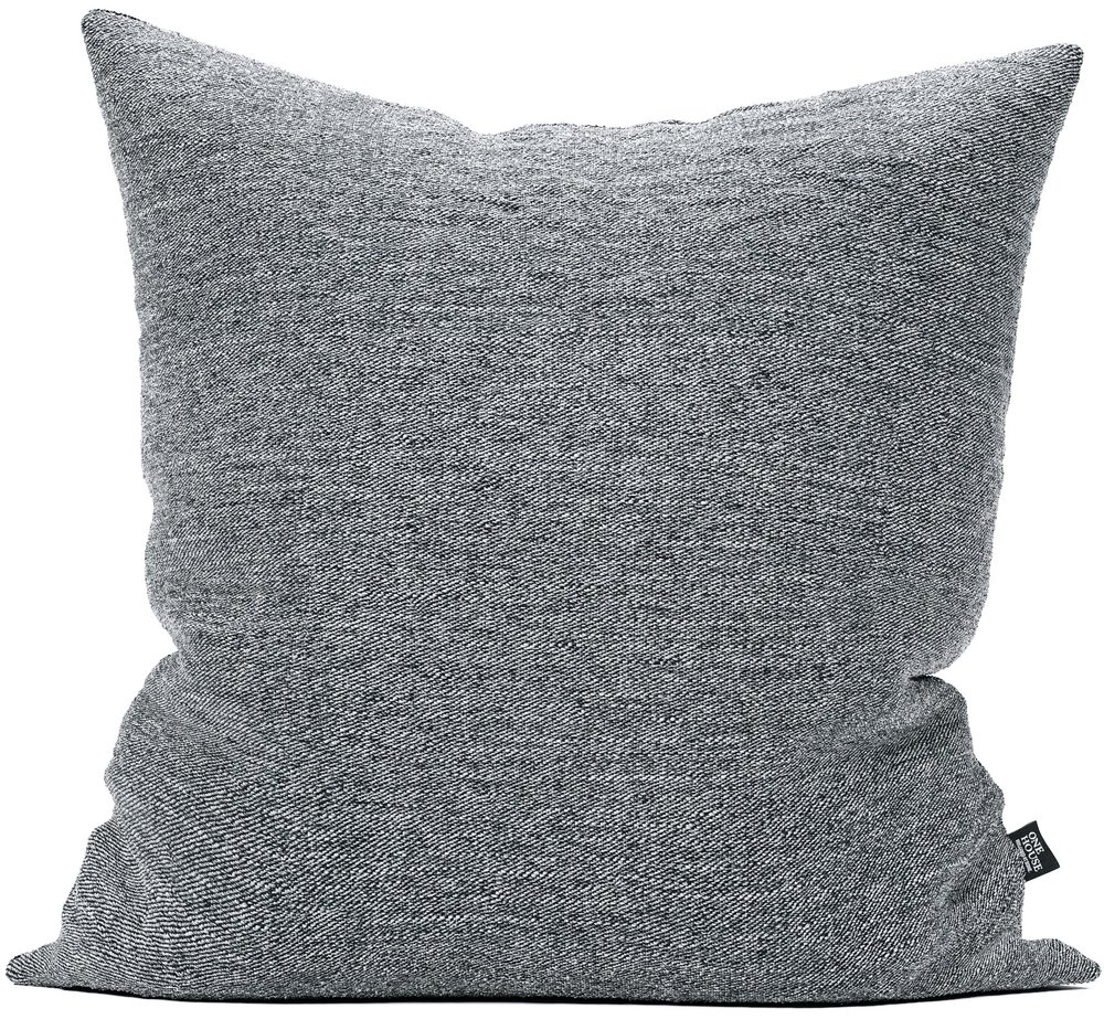 Hudson dark grey - This clean designed pillow adds a darker touch compared to the light version. The classic fabric can easily be used by itself or mixed with more playful designs and other color schemes.